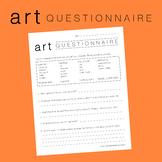 Art Questionnaire Student Survey Middle School High School Visual Art First Day