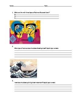 Art Quiz - Balance,Movement,Rhythm, Focal Area, Emphasis,