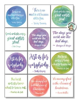 Art Quotes & Writing Activity: Watercolor