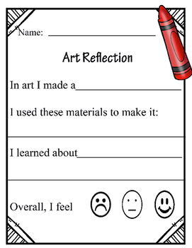 Art Reflection- Primary Grades