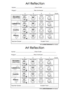 Art Reflection Visual Rubric