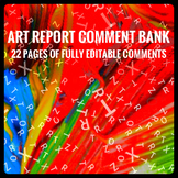 Art Report Comment Bank