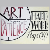 Art Requires Patience - Classroom Poster