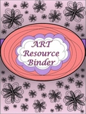Art Resource Binder Cover, Spine, Tabs, Pretty Paper