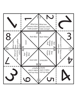 Art Review Game Fortune Teller or Cootie Catcher