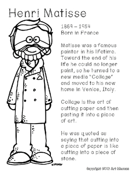 Art Road Trip: Famous Artist Poster/Coloring Pages