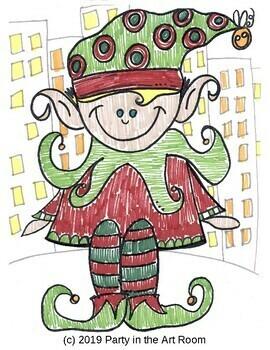 Art Lesson: Holiday Elf | Art Sub Plans