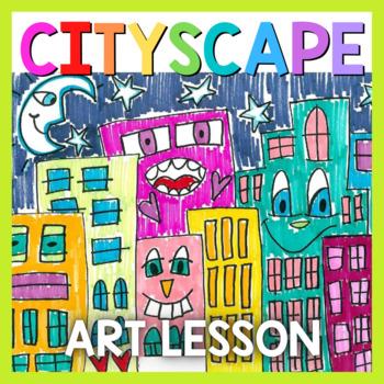 Art Lesson: James Rizzi Cityscape (Emergency Sub Plans)