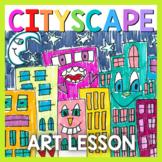 Art Lesson: James Rizzi Cityscape Art Game | Art Sub Plans