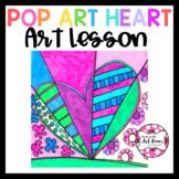 Art Lesson: Inspired Hearts Art Game | Art Sub Plans
