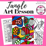 Art Lesson: Tangle | Sub Plans, Early Finishers, No Prep