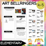 Bell Ringers: 65 Prompts EDITABLE TEMPLATE (ELEMENTARY)