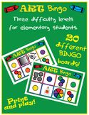 Art Room Bingo- 20 different bingo boards