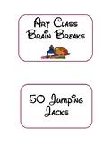 Art Room Brain Break Cards