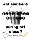 Art Room Bucket Fillers Poster