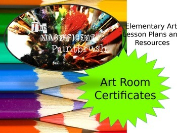 Art Room: Certificates for Outstanding Students