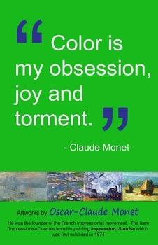 Art Room:  Claude Monet Color Poster