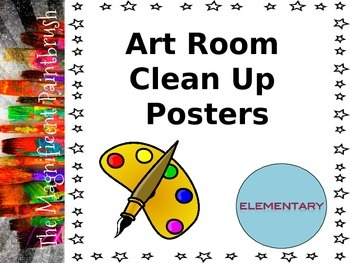 Art Room Clean Up Posters