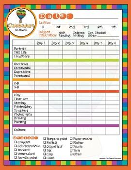 Art Room Curriculum Planner