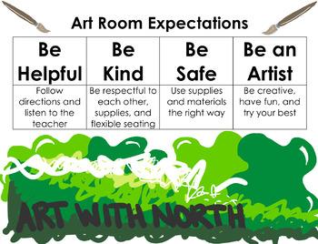 Classroom Management Poster - Art Room
