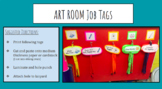 Art Room Job Tags--Art Room Schedule FREE