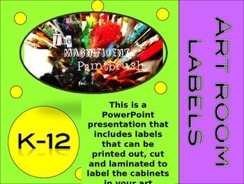 Art Room Labels K-12