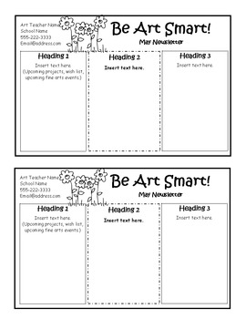 Art Room Monthly Newsletters