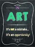 Art Room Motivation Poster (Chalkboard Theme)