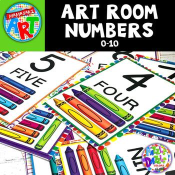 Art Room Numbers Poster Set FREE