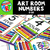 Art Room Numbers Poster Set FREE