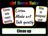 Art Room Procedures Poster