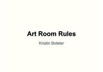 Art Room Rules