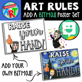 Art Room Rules Add A BITMOJI Poster Set