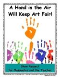 Art Room Rules Poster - Raise hands