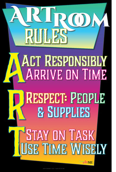 art room rules printable sign by create art with me michelle east