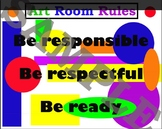 Art Room Rules The 3 R's