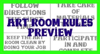 Art Room Rules for the Elementary Art Room