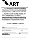Art Room Safety Agreement
