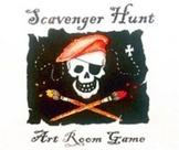 First Week: Art Room Scavenger Hunt- Making Classroom Rules FUN!