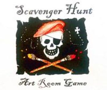 First Week: Art Room Scavenger Hunt- Making Classroom Rules FUN!