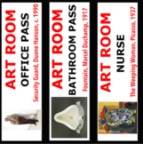 Art Room Sign Out Sheet and Hall Passes