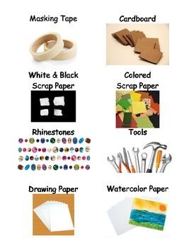 Art Room Supply Labels