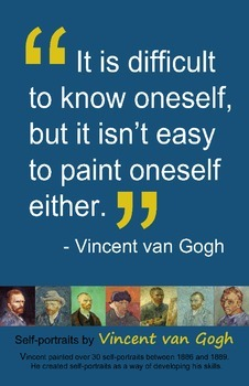 Art Room:  Van Gogh Self-Portrait Poster