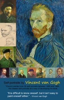 Art Room:  Van Gogh Self-Portrait Poster 2
