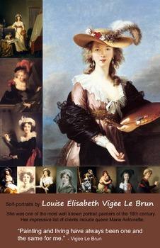 Art Room:  Vigee Le Brun Self-Portrait Poster