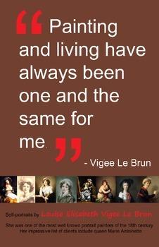 Art Room:  Vigee Le Brun Self-Portrait Poster 2