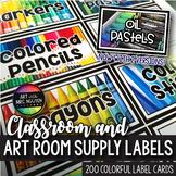Classroom Art Supply Labels
