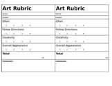 Art Rubric Grade 1-8
