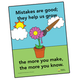Art Rules Poster - Mistakes are good poster - Elementary Arts