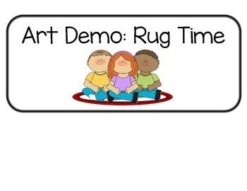 Art Schedule for Art Class Autism ASD Nest